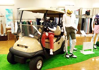 展示会でのゴルフカート